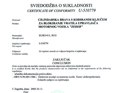 Hrvatska - atest