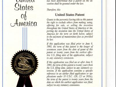 Patent - Amerika